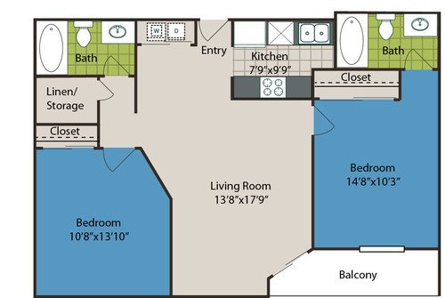 2 Bedrooms 2 Bathrooms Apartment for rent at Marquis At The Parkway in Denver, CO