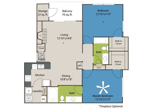 2 Bedrooms 2 Bathrooms Apartment for rent at Marquis Of Carmel Valley in Charlotte, NC