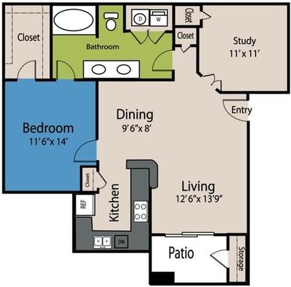 1 Bedroom 1 Bathroom Apartment for rent at The Marquis At Stone Oak in San Antonio, TX