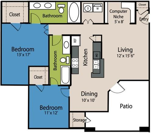 2 Bedrooms 2 Bathrooms Apartment for rent at The Marquis At Stone Oak in San Antonio, TX