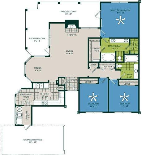 3 Bedrooms 2 Bathrooms Apartment for rent at Marquis At Deerfield in San Antonio, TX