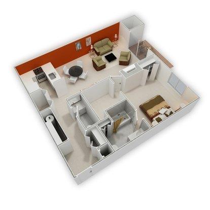 Superbe 1 Bedroom 2 Bathrooms Apartment For Rent At Signature Club Apartments In Ann  Arbor, MI