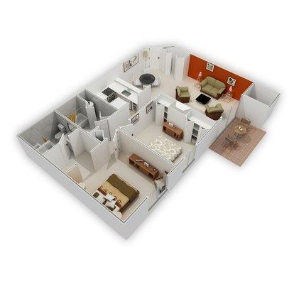 2 Bedrooms 2 Bathrooms Apartment for rent at Signature Club Apartments in Ann Arbor, MI