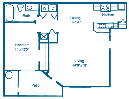 1 Bedroom 1 Bathroom Apartment for rent at Reflections in Gainesville, FL