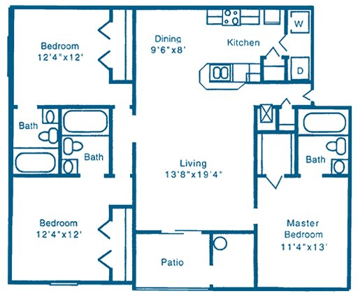 3 Bedrooms 3 Bathrooms Apartment for rent at Reflections in Gainesville, FL