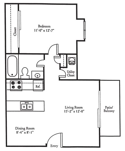 1 Bedroom 1 Bathroom Apartment for rent at Johnston Creek Crossing in Charlotte, NC