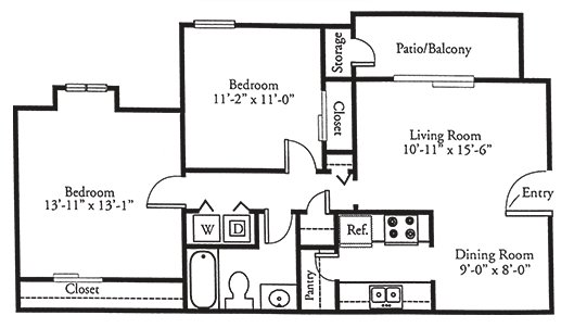 2 Bedrooms 1 Bathroom Apartment for rent at Johnston Creek Crossing in Charlotte, NC