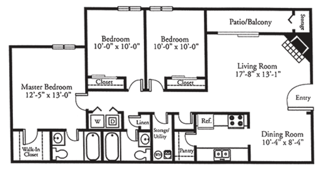 3 Bedrooms 2 Bathrooms Apartment for rent at Johnston Creek Crossing in Charlotte, NC