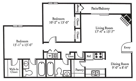 2 Bedrooms 2 Bathrooms Apartment for rent at Johnston Creek Crossing in Charlotte, NC
