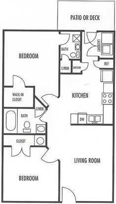 2 Bedrooms 2 Bathrooms Apartment for rent at Wexford in Charlotte, NC