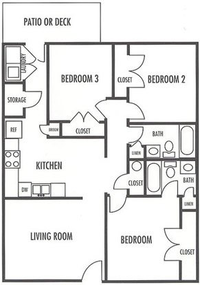 3 Bedrooms 2 Bathrooms Apartment for rent at Wexford in Charlotte, NC