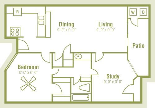 2 Bedrooms 1 Bathroom Apartment for rent at Bandera Crossing in San Antonio, TX