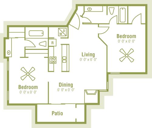 2 Bedrooms 2 Bathrooms Apartment for rent at Bandera Crossing in San Antonio, TX