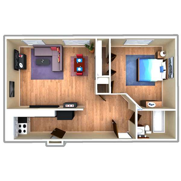 1 Bedroom 1 Bathroom Apartment for rent at 970 Pennsylvania Street in Denver, CO