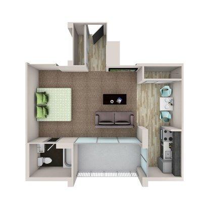 Studio 1 Bathroom Apartment for rent at The Burnsley in Denver, CO