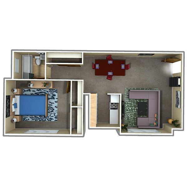 1 Bedroom 1 Bathroom Apartment for rent at 70 Clarkson St in Denver, CO
