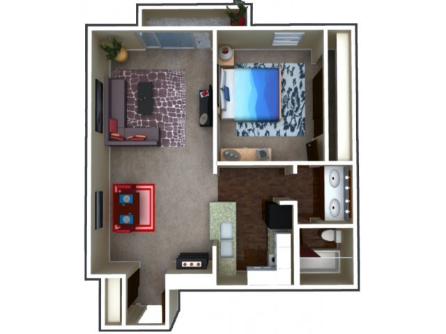 1 Bedroom 1 Bathroom Apartment for rent at 515 Clarkson Street in Denver, CO