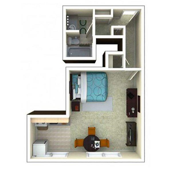 Studio 1 Bathroom Apartment for rent at 870 Cherry in Denver, CO