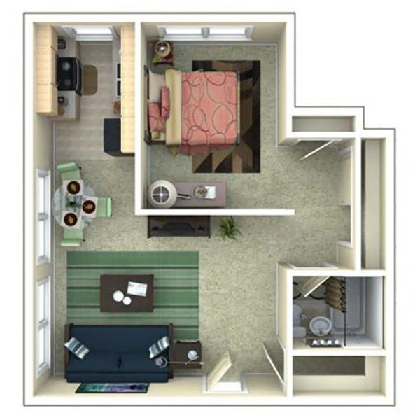 1 Bedroom 1 Bathroom Apartment for rent at 870 Cherry in Denver, CO