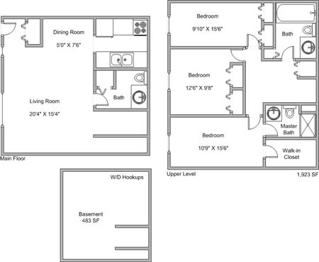 4 Bedrooms 1 Bathroom Apartment for rent at Stony Brook in Omaha, NE