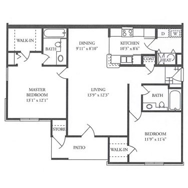 2 Bedrooms 2 Bathrooms Apartment for rent at Benz Place in Omaha, NE