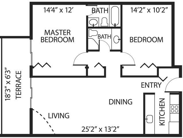 2 Bedrooms 2 Bathrooms Apartment for rent at La Vida Buena Apartments in Albuquerque, NM