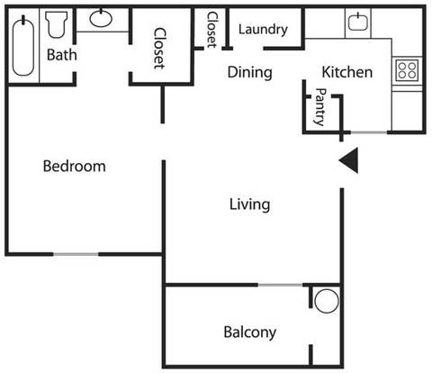 1 Bedroom 1 Bathroom Apartment for rent at Mesa Ridge Apartments in Albuquerque, NM