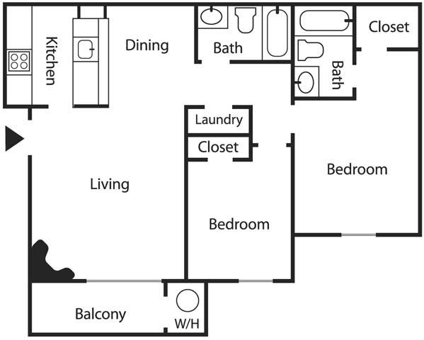 2 Bedrooms 2 Bathrooms Apartment for rent at Mesa Ridge Apartments in Albuquerque, NM