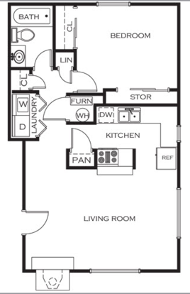 1 Bedroom 1 Bathroom Apartment for rent at Prairie Walk Apartment Homes in Kansas City, MO