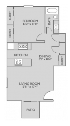 1 Bedroom 1 Bathroom Apartment for rent at Park On Center Apartments in Omaha, NE