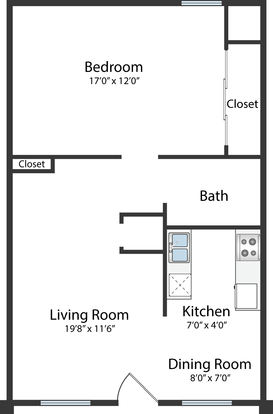 1 Bedroom 1 Bathroom Apartment for rent at The Brookeville Apartments in Columbus, OH