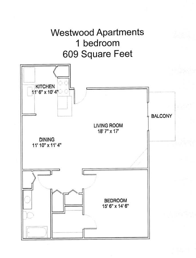 1 Bedroom 1 Bathroom Apartment for rent at Westwood Apartments in Denver, CO