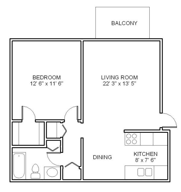 1 Bedroom 1 Bathroom Apartment for rent at Woodhaven Apartments in Denver, CO