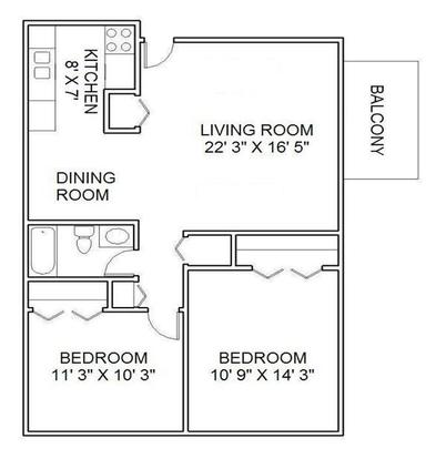 2 Bedrooms 1 Bathroom Apartment for rent at Woodhaven Apartments in Denver, CO
