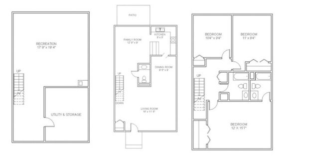 3 Bedrooms 2 Bathrooms Apartment for rent at Woodhaven Apartments in Denver, CO
