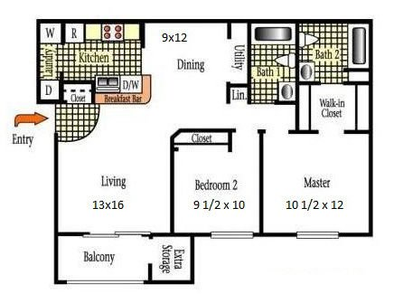 2 Bedrooms 2 Bathrooms Apartment for rent at Peppertree Villas in Fairborn, OH