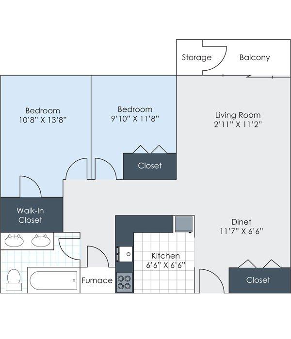2 Bedrooms 1 Bathroom Apartment for rent at Charlton Apartments in Ann Arbor, MI