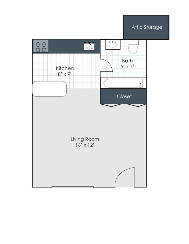 Studio 1 Bathroom Apartment for rent at Amhurst Apartments in Dayton, OH