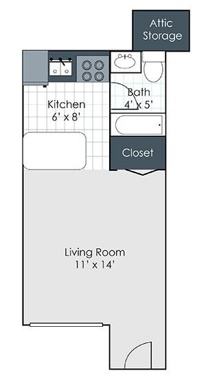 Studio 1 Bathroom Apartment for rent at Longwood Apartments in Lexington, KY