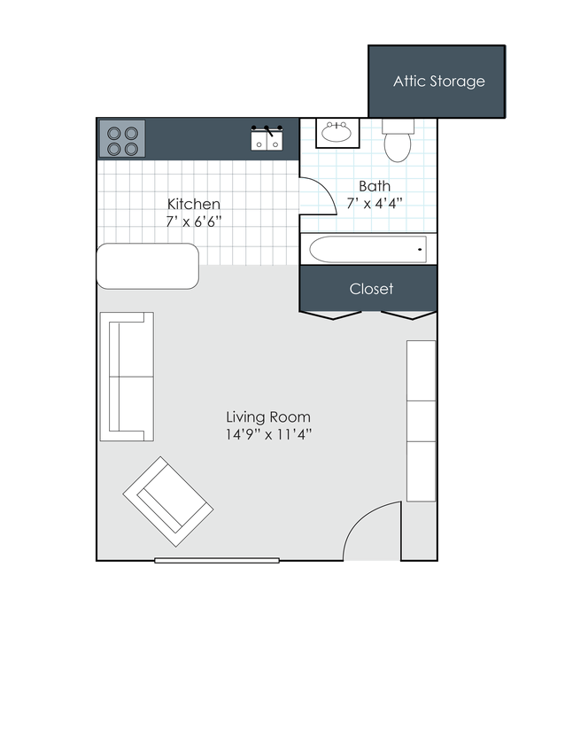 Studio 1 Bathroom Apartment For Rent At Forsythia Court Apartments In  Louisville, KY