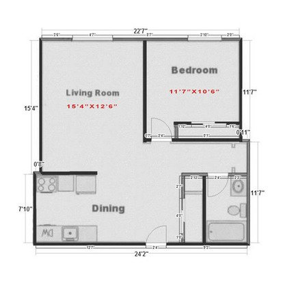 1 Bedroom 1 Bathroom Apartment for rent at Diplomat Apartments in Madison, WI