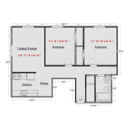 2 Bedrooms 1 Bathroom Apartment for rent at Diplomat Apartments in Madison, WI