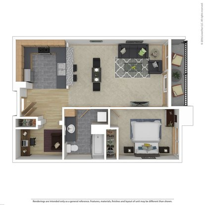1 Bedroom 1 Bathroom Apartment for rent at Seven Hundred Broadway Apartments in Seattle, WA