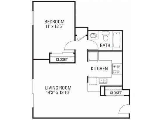 1 Bedroom 1 Bathroom Apartment for rent at The Apartments At Denver Place in Denver, CO