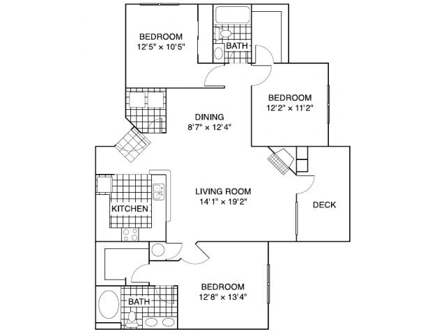 3 Bedrooms 2 Bathrooms Apartment for rent at Matthews Crossing in Charlotte, NC