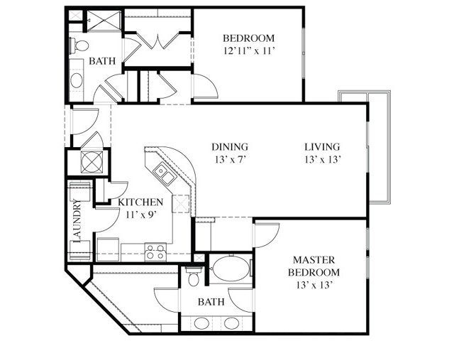 2 Bedrooms 2 Bathrooms Apartment for rent at The Exchange At Brier Creek in Raleigh, NC
