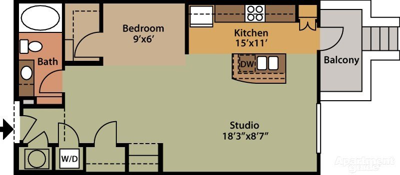 Studio 1 Bathroom Apartment for rent at The Exchange At Brier Creek in Raleigh, NC