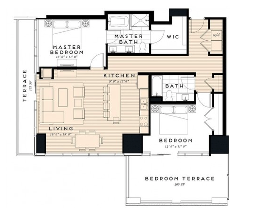 2 Bedrooms 2 Bathrooms Apartment for rent at The Nic On 5th in Minneapolis, MN