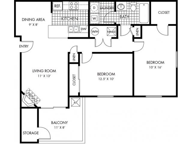 2 Bedrooms 1 Bathroom Apartment for rent at Ponderosa Villas in Denver, CO