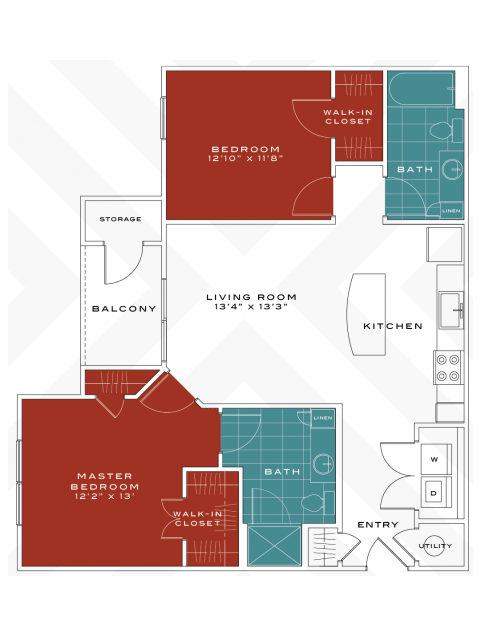 2 Bedrooms 2 Bathrooms Apartment for rent at Vanguard Northlake in Charlotte, NC